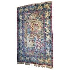 Antique Turkish Pictorial Commemorative Rug