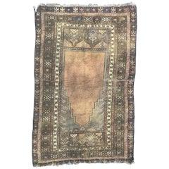 Antique Turkish Prayer Konya Rug