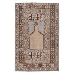 Antique Turkish Prayer Rug, Light Palette