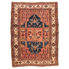 Antique Rug of 1920, Derbend with Double Niche Design