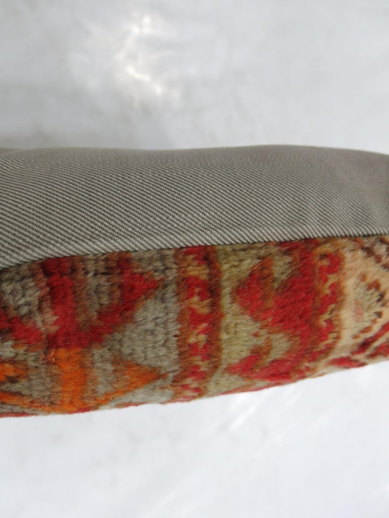 20th Century Antique Turkish Rug Pillow For Sale