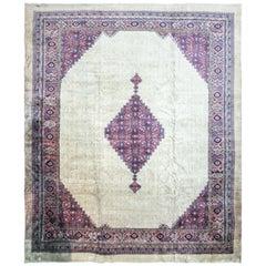 Antique Turkish Serab Design Carpet
