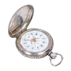 Antique Turkish Silver Pocket Watch, Late 19th Century