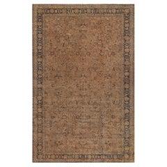 Antique Turkish Sivas Handmade Botanic Carpet