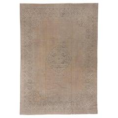 Antique Turkish Sivas Large Carpet, Neutral Palette, Circa 1920s