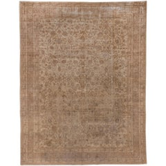 Antique Turkish Sivas Rug, Beige and Brown Palette, All-Over Field, circa 1920s