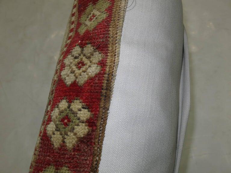 Pillow made from an antique Turkish Sivas rug.