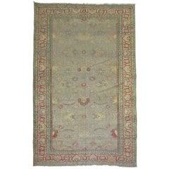 Antique Turkish Sivas Rug with Gray Field