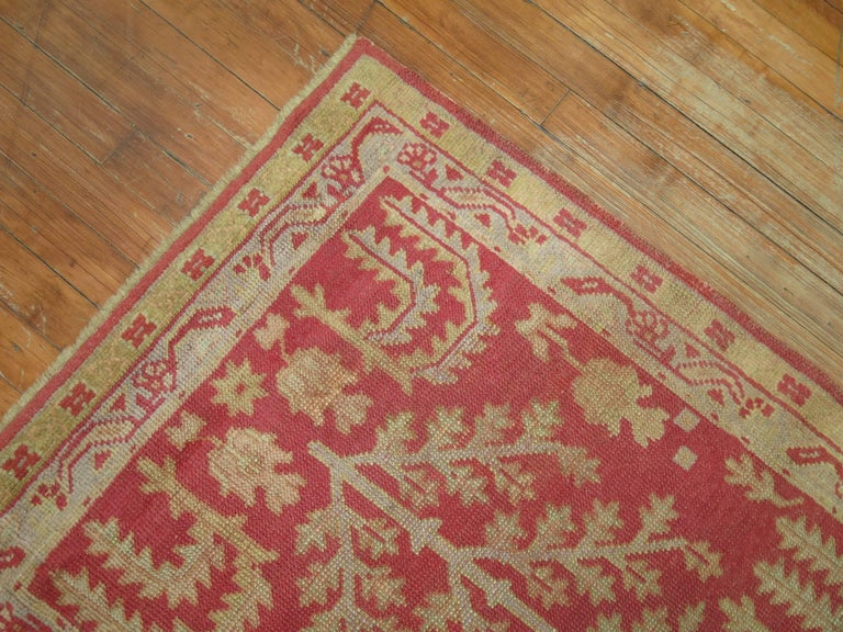 Agra Antique Turkish Oushak Runner with Tree Design For Sale