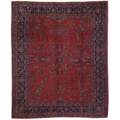 Antique Turkish Sparta Rug with Old World Art Nouveau Style