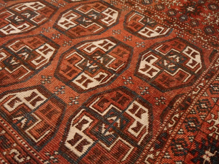 20th Century Antique Turkman Bokhara Tekke Tribal Rug For Sale