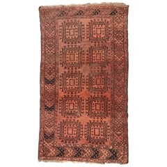 Antique Turkmen Afghan Rug