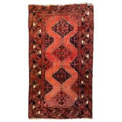 Antique Turkmen Afghan Rug