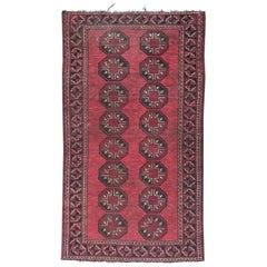 Antique Turkmen Afghan Tribal Rug