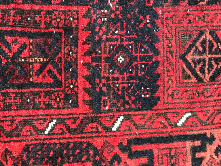 Antique Turkmen Belutch Afghan Rug 3