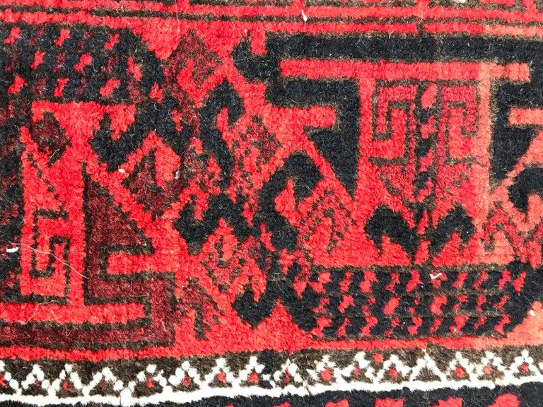 Antique Turkmen Belutch Afghan Rug 4