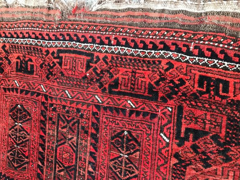Antique Turkmen Belutch Afghan Rug 5