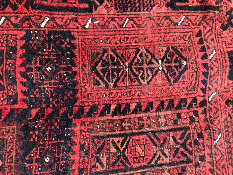 Antique Turkmen Belutch Afghan Rug 6
