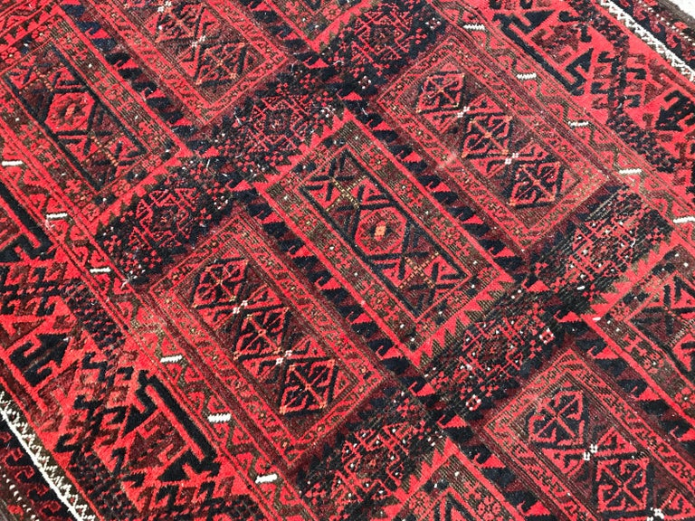 Antique Turkmen Belutch Afghan Rug 7