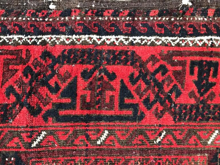 Antique Turkmen Belutch Afghan Rug 8
