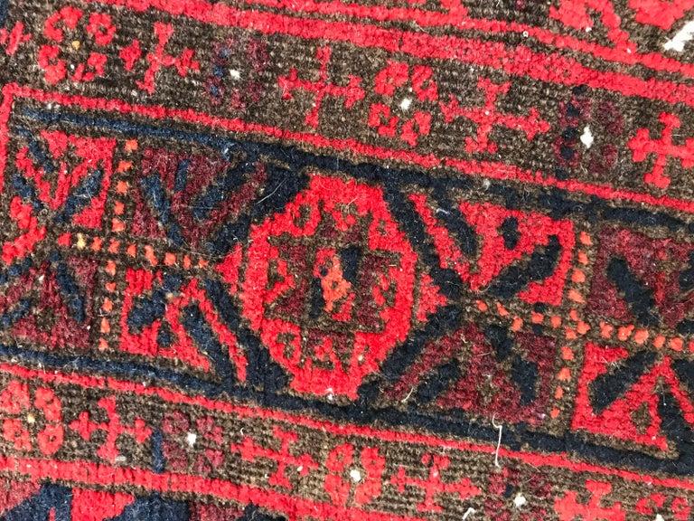 Antique Turkmen Belutch Afghan Rug 9
