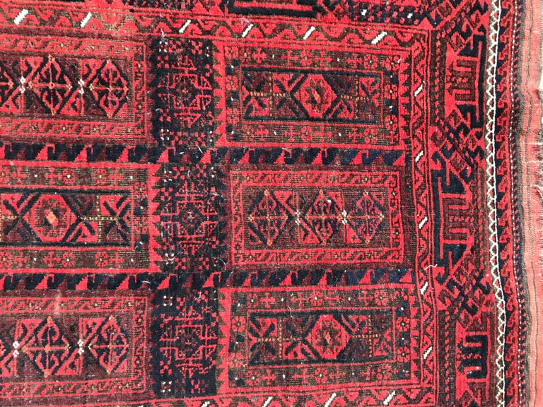 Tribal Antique Turkmen Belutch Afghan Rug
