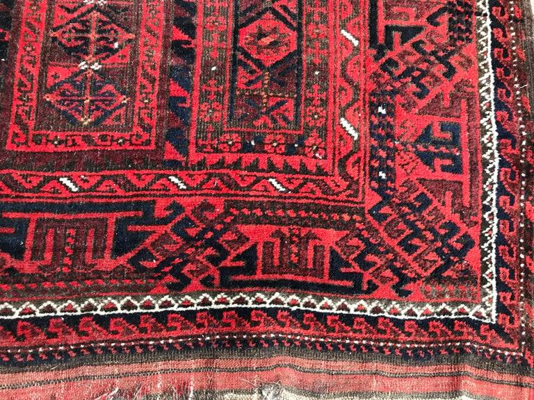 19th Century Antique Turkmen Belutch Afghan Rug