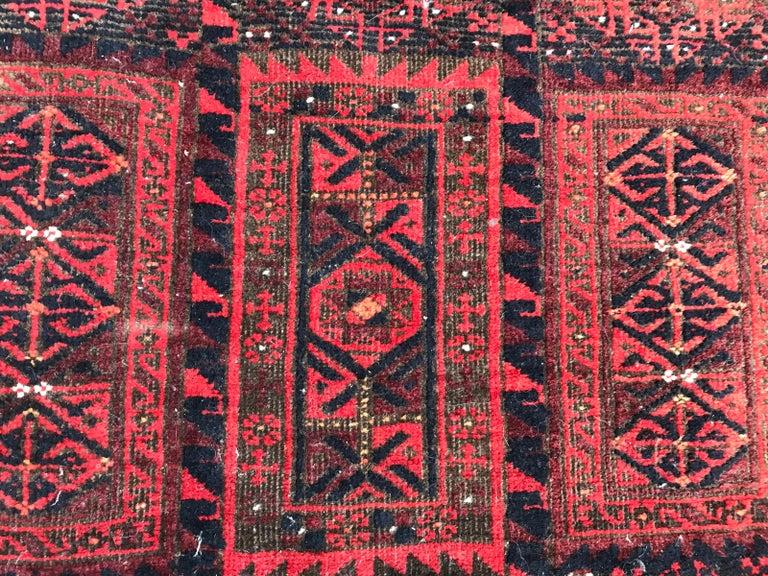 Wool Antique Turkmen Belutch Afghan Rug