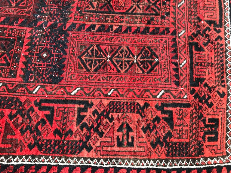 Antique Turkmen Belutch Afghan Rug 1