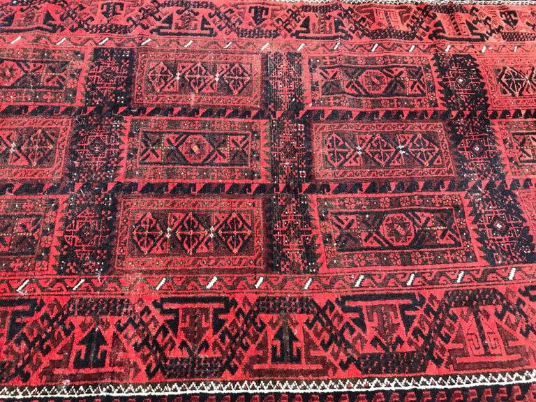 Antique Turkmen Belutch Afghan Rug 2