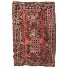 Antique Turkmen Belutch Afghan Rug
