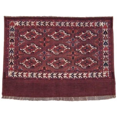 "Antique Turkmen ""Chuval"" Rug"