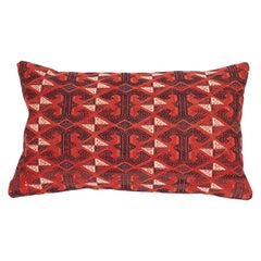 Antique Turkmen Cicim Pillow Made from a 19th Century Turkmen Tekke Tribe Kilim