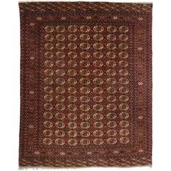 Antique Turkmen Tekke Rug, Tekke Main Carpet, Turkoman Rug