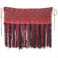 Antique Turkmen Tekke Tribe Cicim Torba / Bag with Silk Highlights