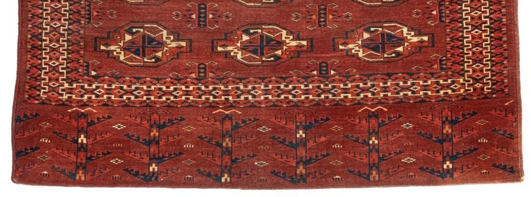 19th Century Antique Turkmen Yomud Chuval Tribal Bag Front For Sale