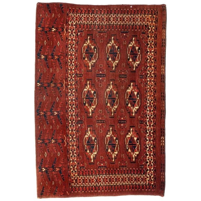 Antique Turkmen Yomud Chuval Tribal Bag Front For Sale