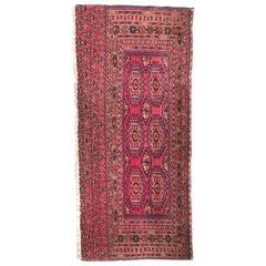 Antique Turkmen Yomut Chuval Rug