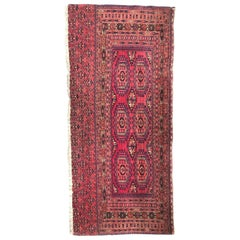 Antique Turkmen Yomut Chuval Rug