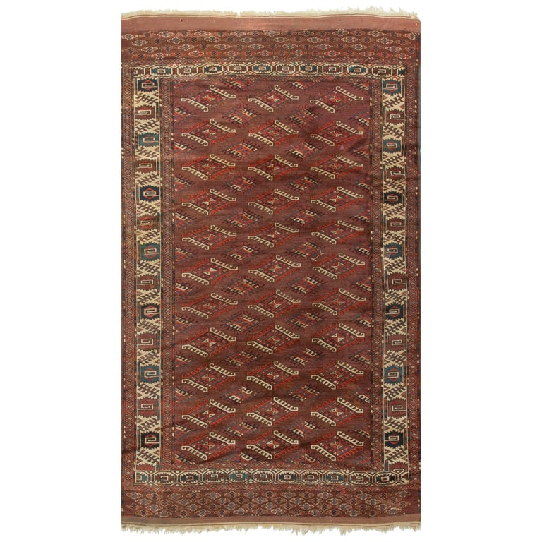 Antique Turkoman Bokhara Yomut Rug Circa 1890 For Sale At