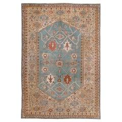 Antique Turquoise Oushak Rug, circa 1860