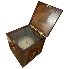 Antique Two-Day Marine Chronometer in Mahogany Case by Tobias, Liverpool