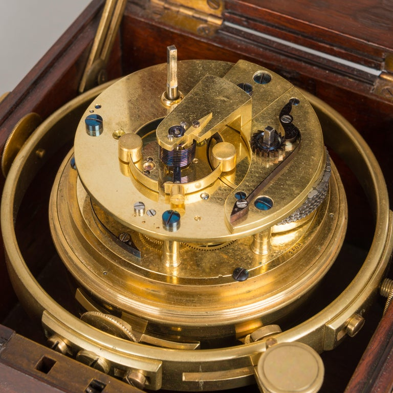 Antique Two-Day Marine Chronometer in Mahogany Case by Widenham, London
