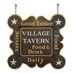 Antique Two-Sided Tavern Sign