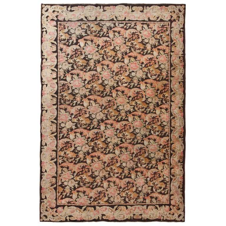 Antique Ukrainian Pile Rug. Size: 10 ft 6 in x 15 ft 10 in For Sale