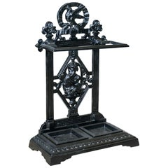 Antique Umbrella or Stick Stand, English, Victorian, Cast Iron, Hall, circa 1890