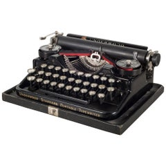 Antique Underwood Standard Portable 3-Bank Typewriter, circa 1923