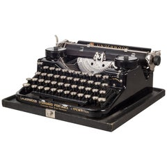 Antique Underwood Standard Portable Four Bank Typewriter, circa 1928