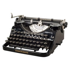 Antique Underwood Universal Portable Four Bank Typewriter, circa 1935