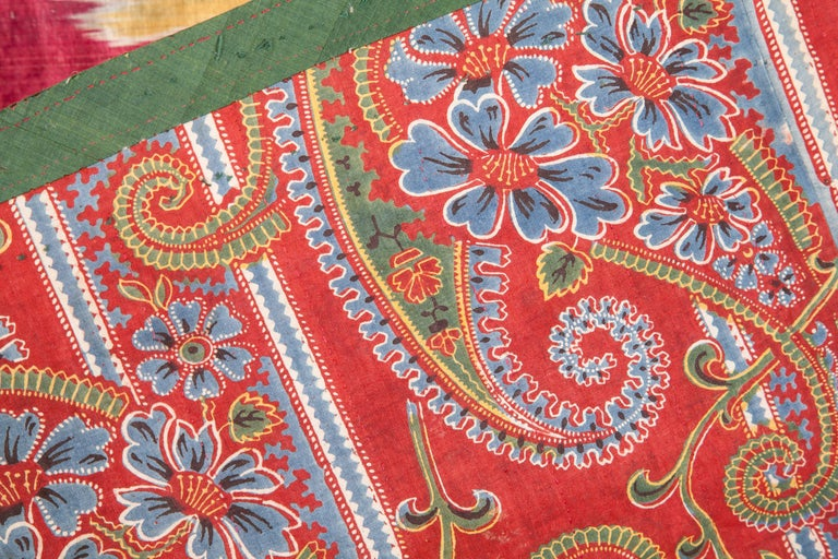 Antique Uzbek Ikat Panel, Mid-19th Century In Good Condition For Sale In Istanbul, TR